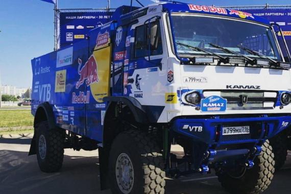 Những bức ảnh đầu tiên về chiếc xe tải đua KAMAZ được công bố