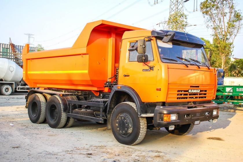 XE BEN KAMAZ 65115 (6x4) THÙNG OVAL