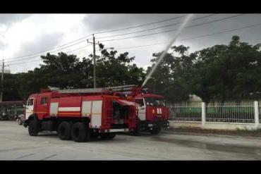 Vận hành thử nghiệm xe cứu hỏa KAMAZ 65115 tại KCN Thuận Đạo - Bến Lức , Long An